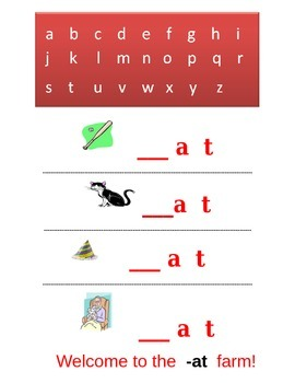 Common Core Kindergarten Language Arts: CVC Words and Words That Rhyme