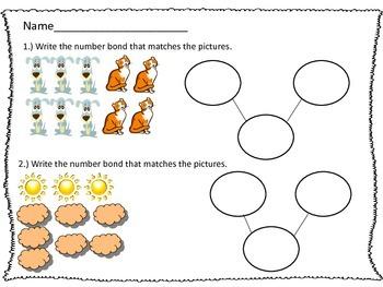 Common Core Kindergarten Math Module 4 addition worksheet packet
