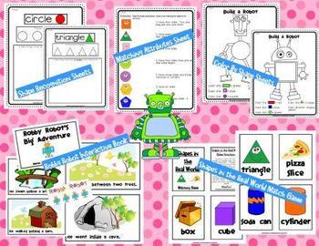 Geometry Unit 3: 2D and 3D Shape Explosion Common Core Kindergarten Math