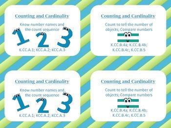 Common Core Kindergarten Math Tub Labels (color)