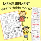 Measurement Worksheets Independent Work Packet for Kindergarten