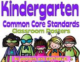 Common Core Kindergarten Posters - Editable- (Superhero Edition)