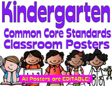 Common Core Kindergarten Posters - Editable- (Melonheadz Edition)