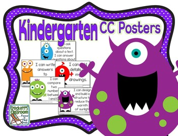 Common Core Kindergarten Posters (I can...) Monsters Edition