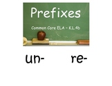 Common Core Kindergarten Prefixes un- and re-