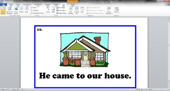 Common Core - Kindergarten Sentences with Dolch Sight Words - Task Cards