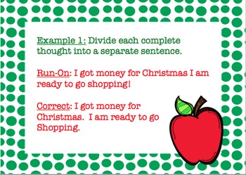 Common Core: L.4.1f- Run-On Sentences Powerpoint