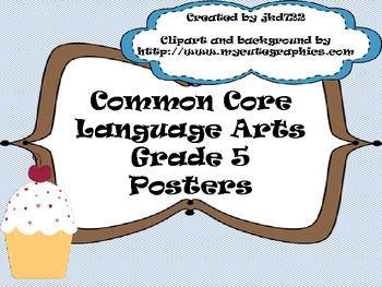 Common Core LA Standards 5th grade Posters
