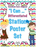 Common Core LITERACY STATION POSTER SET