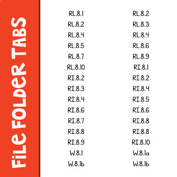 Common Core Labels ELA Grade 8