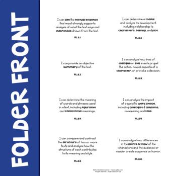ELA Standards Labels 8