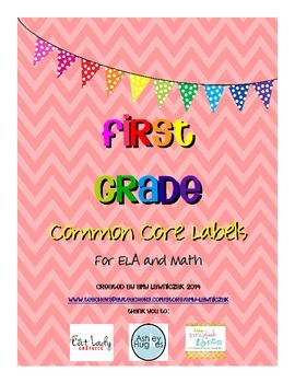Common Core Labels for First Grade