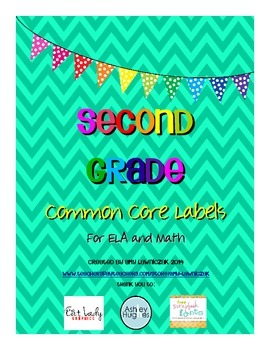 Common Core Labels for Second Grade