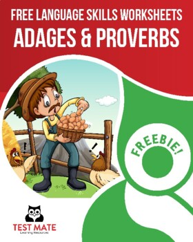 Common Core Language: Adages & Proverbs (FREE Practice Worksheets)