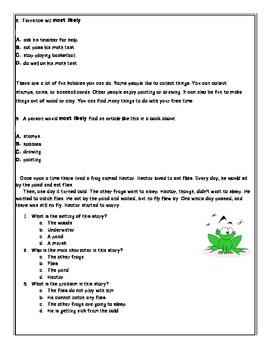 Common Core Language Arts Assessment