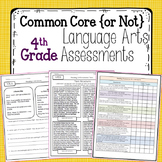 Fourth Grade Language Arts Assessments {Common Core & NOT Common Core}
