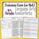 4th Grade Language Arts Assessments {Common Core & NOT Common Core}