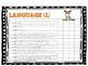 Common Core Language Arts Checklist Kindergarten