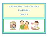 Common Core Language Arts - ELA Grade 3 Rubrics
