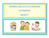 Common Core Language Arts - ELA Grade 5 Rubrics