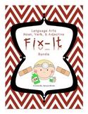 Common Core Language Arts Noun, Verbs, & Adjectives Litera