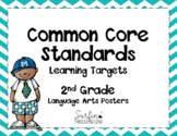 Second Grade Common Core ELA Standards / Learning Targets  Posters-Chevron