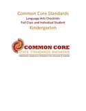 Common Core Language Arts Standards Chart - Kindergarten PDF