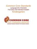 Common Core Language Arts Standards Chart - Kindergarten .docx