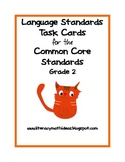 Common Core Language Arts Standards Task Cards:  Grade 2
