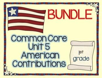 American Contributions 6 WEEK LESSON PLAN BUNDLE
