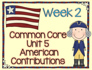 American Contributions with George Washington Lesson Plans