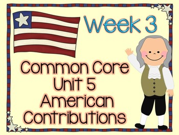 American Contributions with Benjamin Franklin Lesson Plans