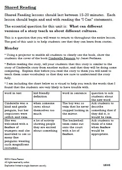 Around the World with a Glass Slipper Week 6 Lesson Plans