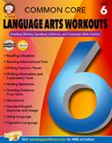 Common Core Language Arts Workouts Grade 6 SALE 20% OFF! 404226