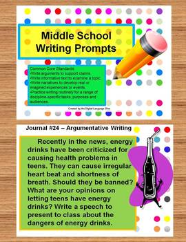 Common Core Language Arts Writing Prompts