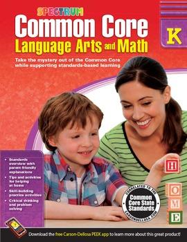 Common Core Language Arts and Math Grade K SALE 20% OFF! 704500