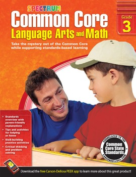 Common Core Language Arts and Math Grade 3 SALE 20% OFF! 704503