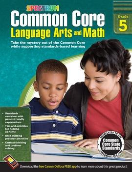Common Core Language Arts and Math Grade 5 SALE 20% OFF! 704505