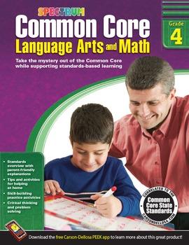 Common Core Language Arts and Math Grade 4 SALE 20% OFF! 704504