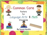 Common Core Language Arts and Math Posters for 3rd Grade