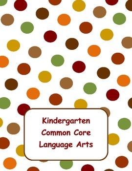 Common Core Language Arts flipchart for Kindergarten