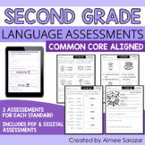 Language Assessments for Second Grade (PDF & Digital) / Di