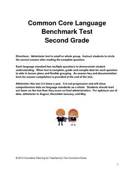 Common Core Language Benchmark Test-Second Grade