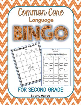 Common Core Language Bingo for 2nd Grade