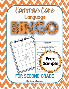 Common Core Language Bingo for 2nd Grade {Free Sample} {Collective Nouns}
