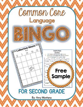 Common Core Language Bingo for 2nd Grade {Free Sample} {Co
