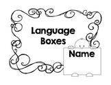 Common Core Language Boxes for 3rd Grade