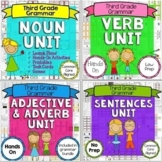 Parts of Speech Bundle - Nouns, Verbs, Adjectives, Adverbs, Types of Sentences