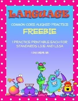 Common Core Language FREEBIE