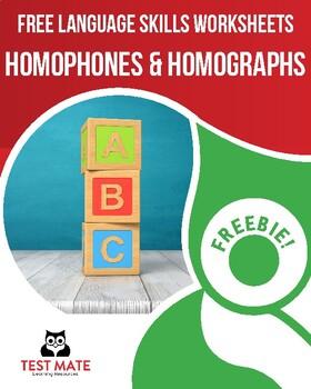 Common Core Language: Homophones & Homographs (FREE Practice Worksheets)